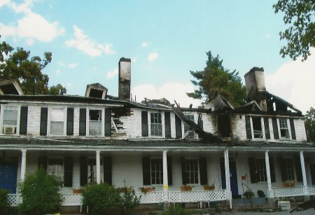 Old Groton Inn After The Fire
