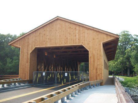 Pepperell's New Wood Covered Bridge